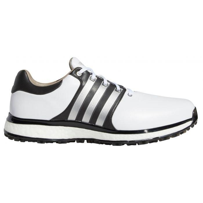 Adidas Tour360 Xt Spikeless Golf Shoes 2020 White Silver Black On Sale Carl S Golfland