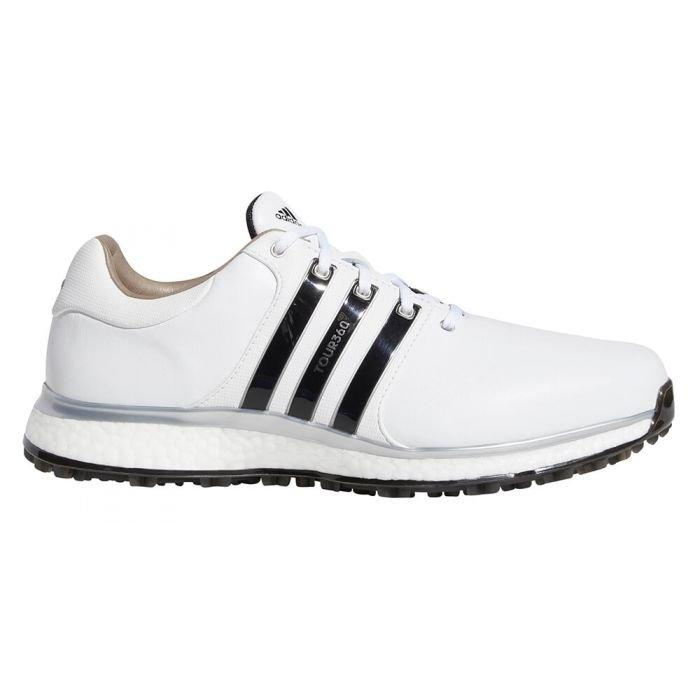 Adidas Tour 360 Xt Spikeless Golf Shoes White Black Silver On Sale Carl S Golfland