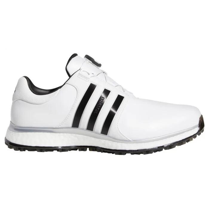 adidas Tour 360 XT Spikeless Boa Golf Shoes White/Black/Silver