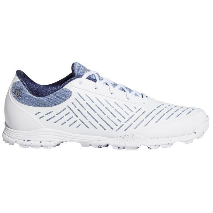 adidas Womens Adipure Sport 2.0 Golf Shoes - White/Silver/Indigo