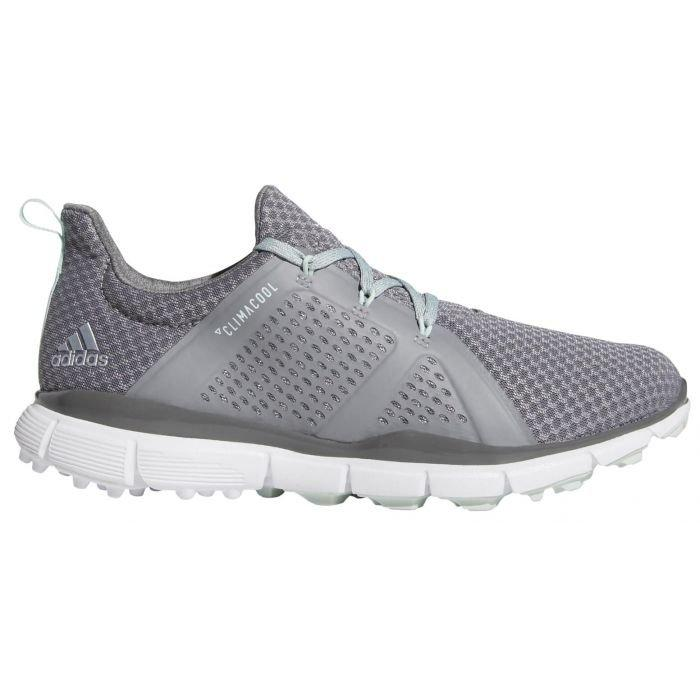 adidas Womens Climacool Cage Golf Shoes Grey/Green/Grey - ON SALE