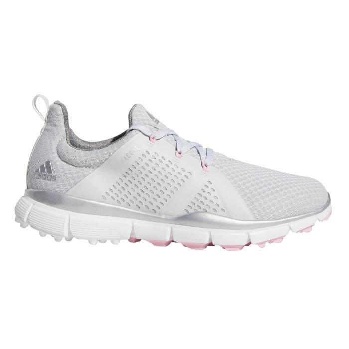 adidas Womens Climacool Cage Golf Shoes Grey/Silver/Pink - ON SALE