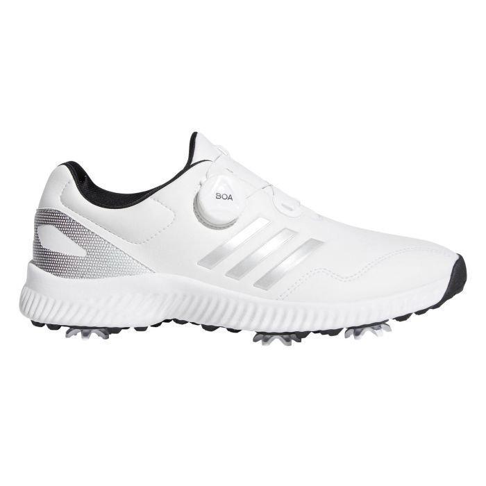 adidas Womens Response Bounce Boa Golf Shoes White/Silver/Black