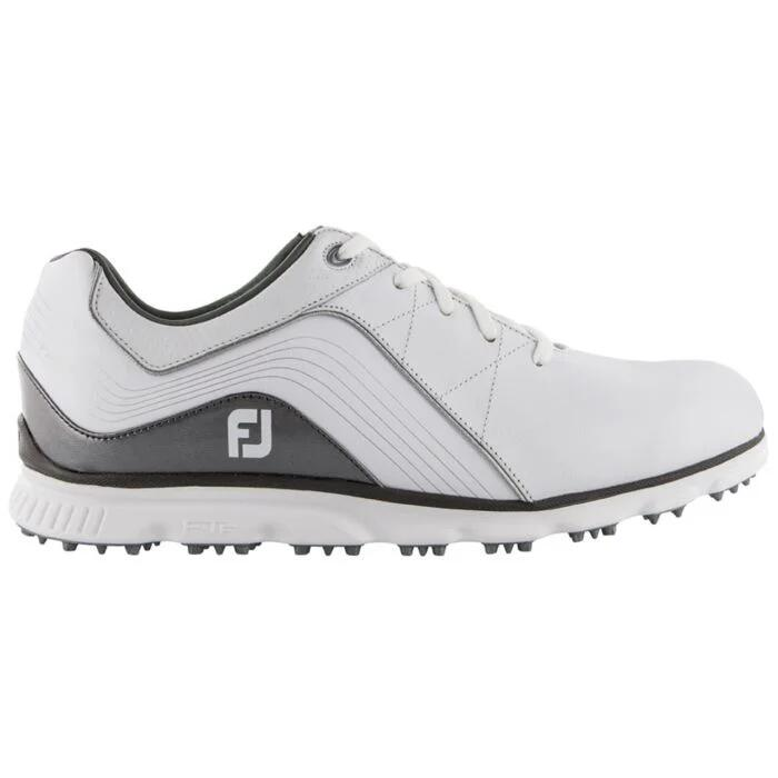 Footjoy Pro Sl Spikeless Golf Shoes White Silver 53267 On Sale Carl S Golfland