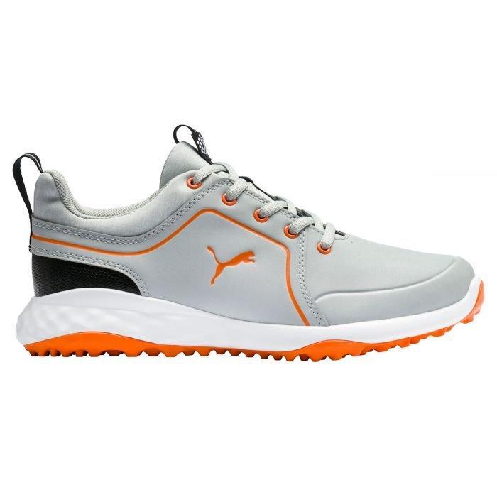 Puma Junior Grip Fusion 2 0 Golf Shoes 2020 High Rise Vibrant Orange Carl S Golfland