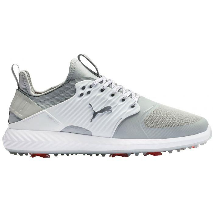 Puma Ignite Pwradapt Caged Golf Shoes 2020 Gray Violet Silver White Carl S Golfland