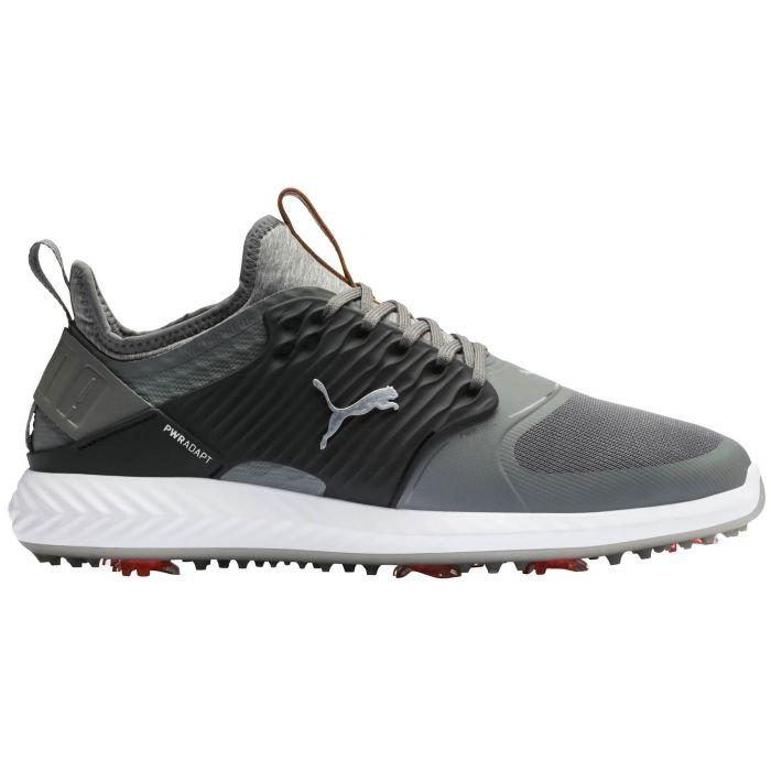 Puma Ignite Pwradapt Caged Golf Shoes 2020 Quiet Shade Black Silver Carl S Golfland
