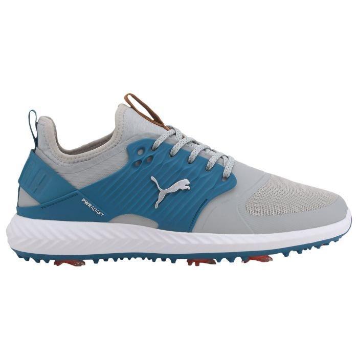 Puma Ignite Pwradapt Caged Golf Shoes 2020 High Rise Puma Silver Digi Blue Carl S Golfland