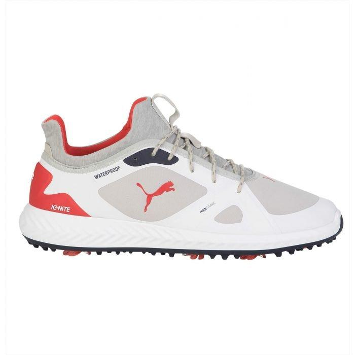 Puma Ignite Pwradapt Golf Shoes Gray Violet Red Carl S Golfland