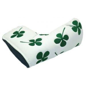 4 Leaf Clover Golf Putter Headcover White