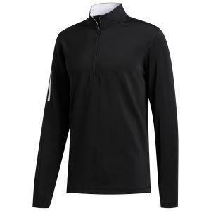 adidas 3-Stripe Midweight 1/2 Zip Golf Pullover