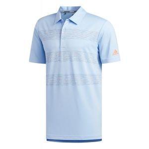 adidas 3-Stripe Print Golf Polo Shirt 2019 - ON SALE