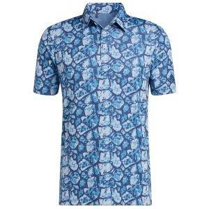 adidas Cobblestone-Print Recyced Content Golf Polo Shirt