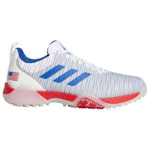 adidas CodeChaos Golf Shoes 2020 - Cloud White/Royal Blue/Scarlet