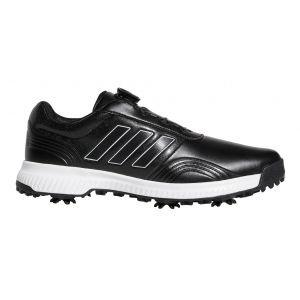 adidas CP Traxion Boa Golf Shoes Black/White/Silver Metallic
