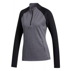 Adidas Womens 1/2 Zip Heathered Golf Pullover FT1540