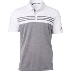adidas Heather Blocked Golf Polo Shirt On Sale