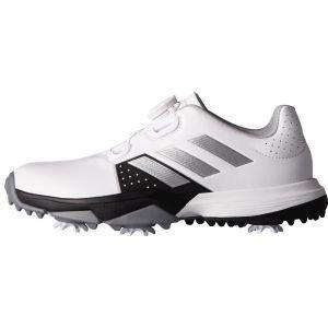 adidas Junior Adipower Boa Golf Shoes White/Black