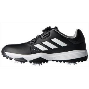 adidas Junior Adipower Boa Golf Shoes Black/White - ON SALE