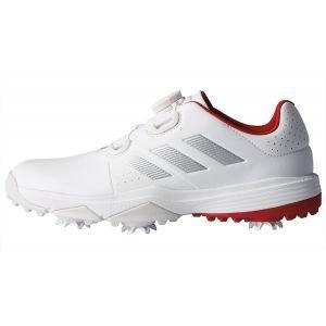 adidas Junior Adipower Boa Golf Shoes White/Silver/Scarlet