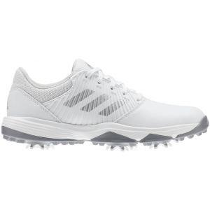 adidas Junior CP Traxion Golf Shoes White/Grey - ON SALE