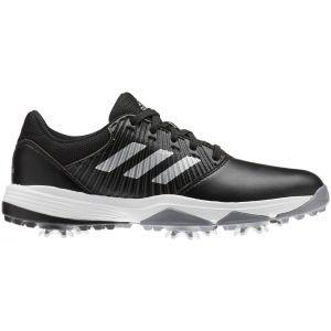 adidas Junior CP Traxion Golf Shoes Black/Silver/White