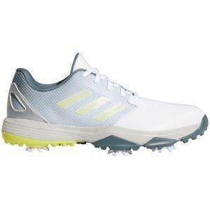 adidas Junior Kids ZG21 Golf Shoes White/Acid Yellow/Blue Oxide