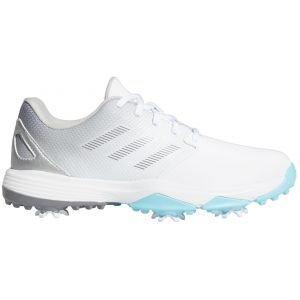adidas Junior Kids ZG21 Golf Shoes White/Grey/Sky