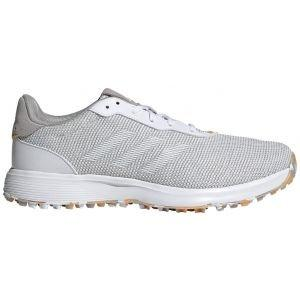 adidas S2G Spikeless Golf Shoes Grey/Cloud White/Hazy Orange