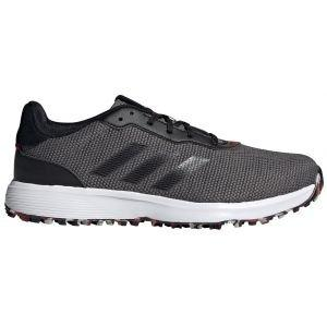 adidas S2G Spikeless Golf Shoes Grey/Black/Scarlet