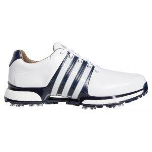adidas Tour360 XT Golf Shoes 2020 White/Navy/Silver - ON SALE