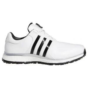 Adidas Tour360 XT Spikeless BOA Golf Shoes White/Black/Silver