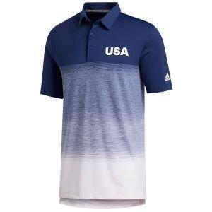 adidas Ultimate365 Fade Stripe USA Golf Polo