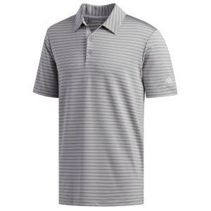 adidas Ultimate 365 Two-Color Stripe Golf Polo Shirt - ON SALE