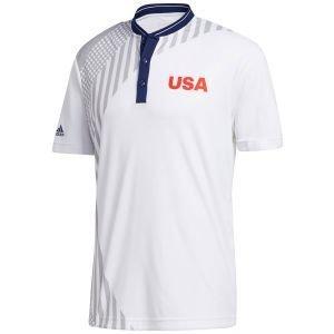 adidas USA HEAT.RDY Mock Golf Polo Shirt