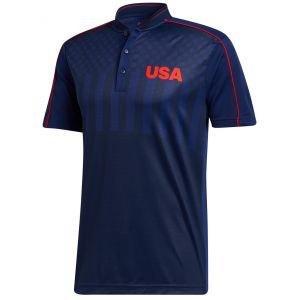adidas USA HEAT.RDY Mock Golf Polo