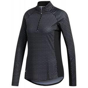 adidas Womens Aeroready UV Long Sleeve Golf Polo Shirt