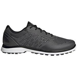 adidas Womens Alphaflex Sport Spikeless Golf Shoes Black/Grey/White