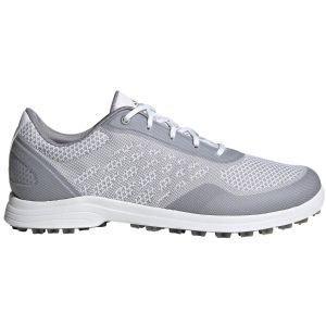 adidas Womens Alphaflex Sport Spikeless Golf Shoes White/Grey/Silver