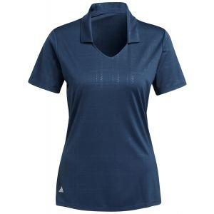 adidas Women's Embossed Primegreen Golf Polo Shirt