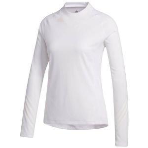 adidas Womens No-Show Mock Long Sleeve Golf Tee Shirt