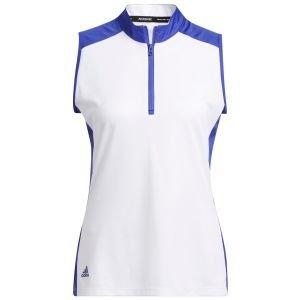 adidas Women's Primeblue Colorblock Sleeveless Racerback Golf Polo