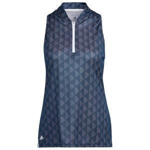 adidas Women's Primegreen HEAT.RDY Racerback Sleeveless Golf Polo Shirt
