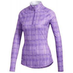 adidas Women's Ultimate365 Printed UPF Long Sleeve Golf Polo Shirt