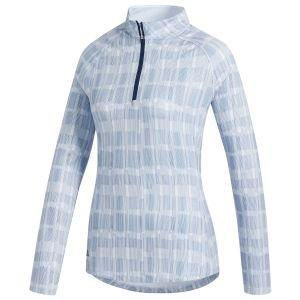 adidas Women's Ultimate365 Printed UPF Long Sleeve Golf Polo Shirt
