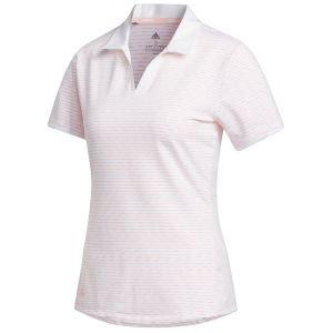 adidas Womens Ultimate365 Space-Dyed Striped Golf Polo Shirt
