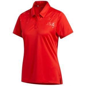adidas Women's USA Star Golf Polo