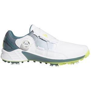 adidas ZG21 Boa Golf Shoes White/Yellow/Blue