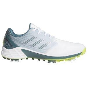 adidas ZG21 Golf Shoes White/Acid Yellow/Blue Oxide