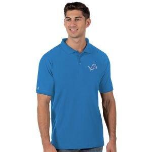 Antigua Detroit Lions Legacy Pique Golf Polo